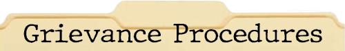 Grievance Prodedures File Folder