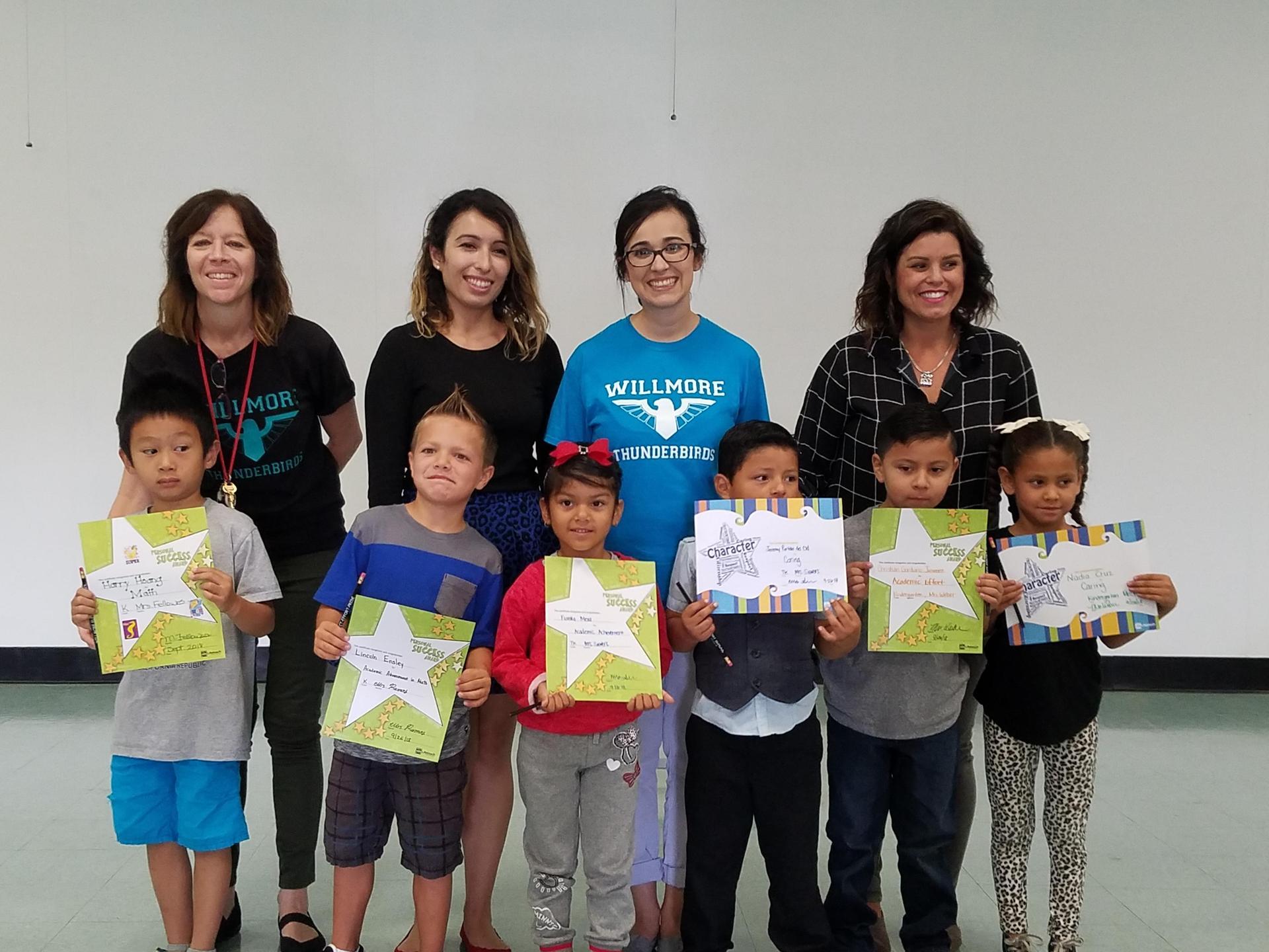 Kindergarten Honorees