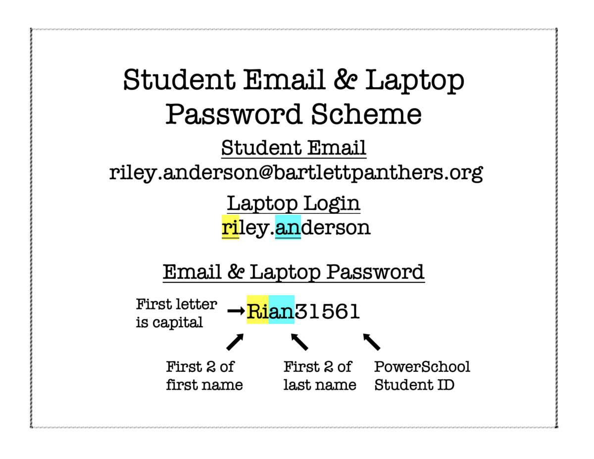Student Laptop & Email Access