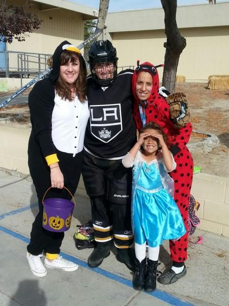 Teachers, Parent and Student in costume