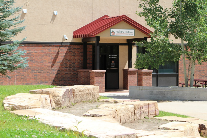 Image of the entryway of the school-based health center