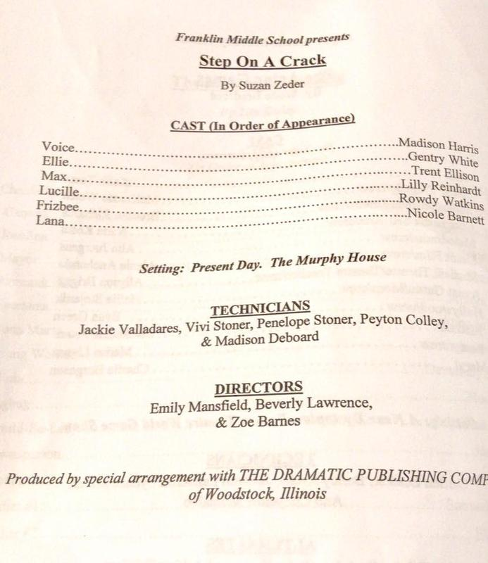 Results from Franklin Middle School One Act Play Thumbnail Image