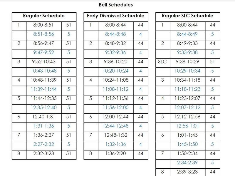 UPDATED SY21-22 Bell Schedules Featured Photo