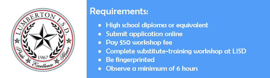 Substitute Requirements