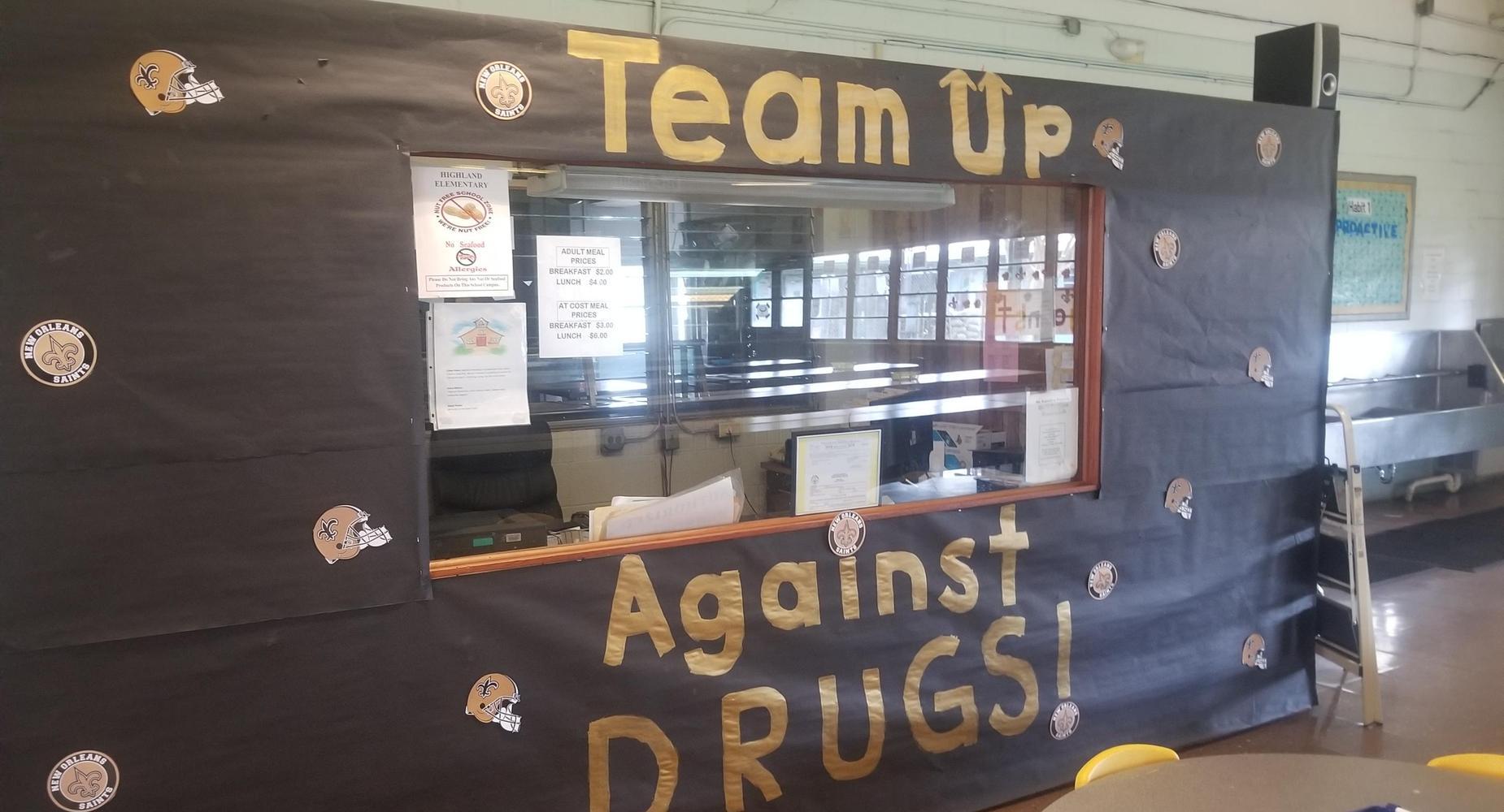 Red Ribbon Week - Team Up Against Drugs