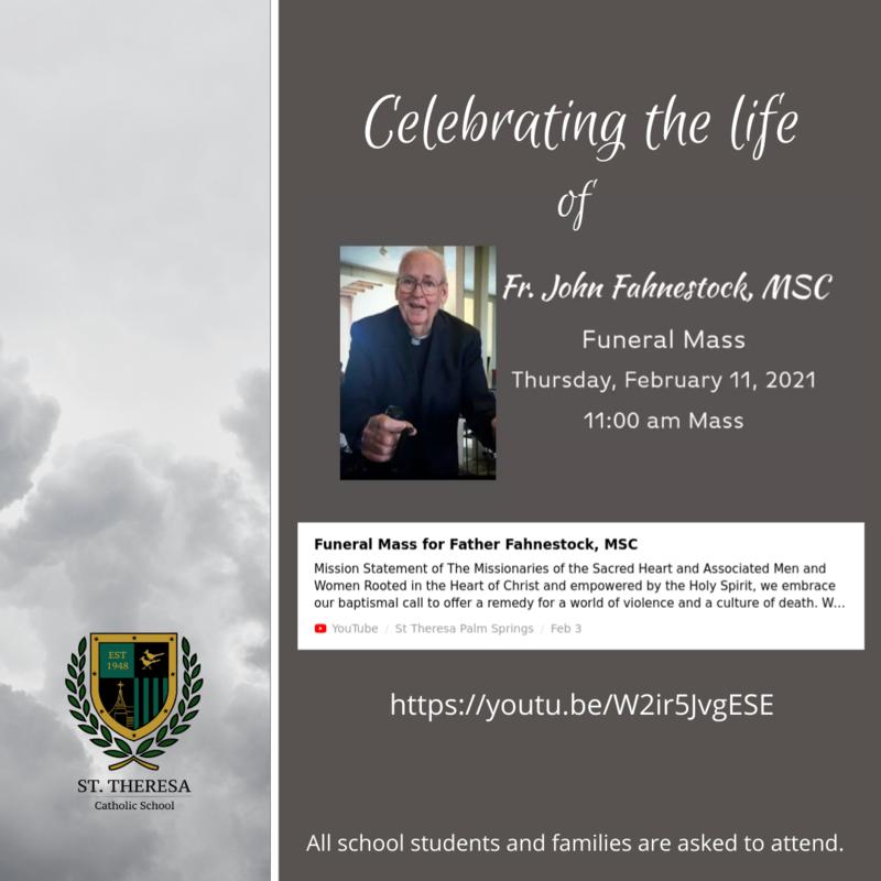 Celebrating the life of Fr. John Fahnestock, M.S.C. Featured Photo