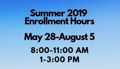 2019 Summer Enrollment Hours Thumbnail Image
