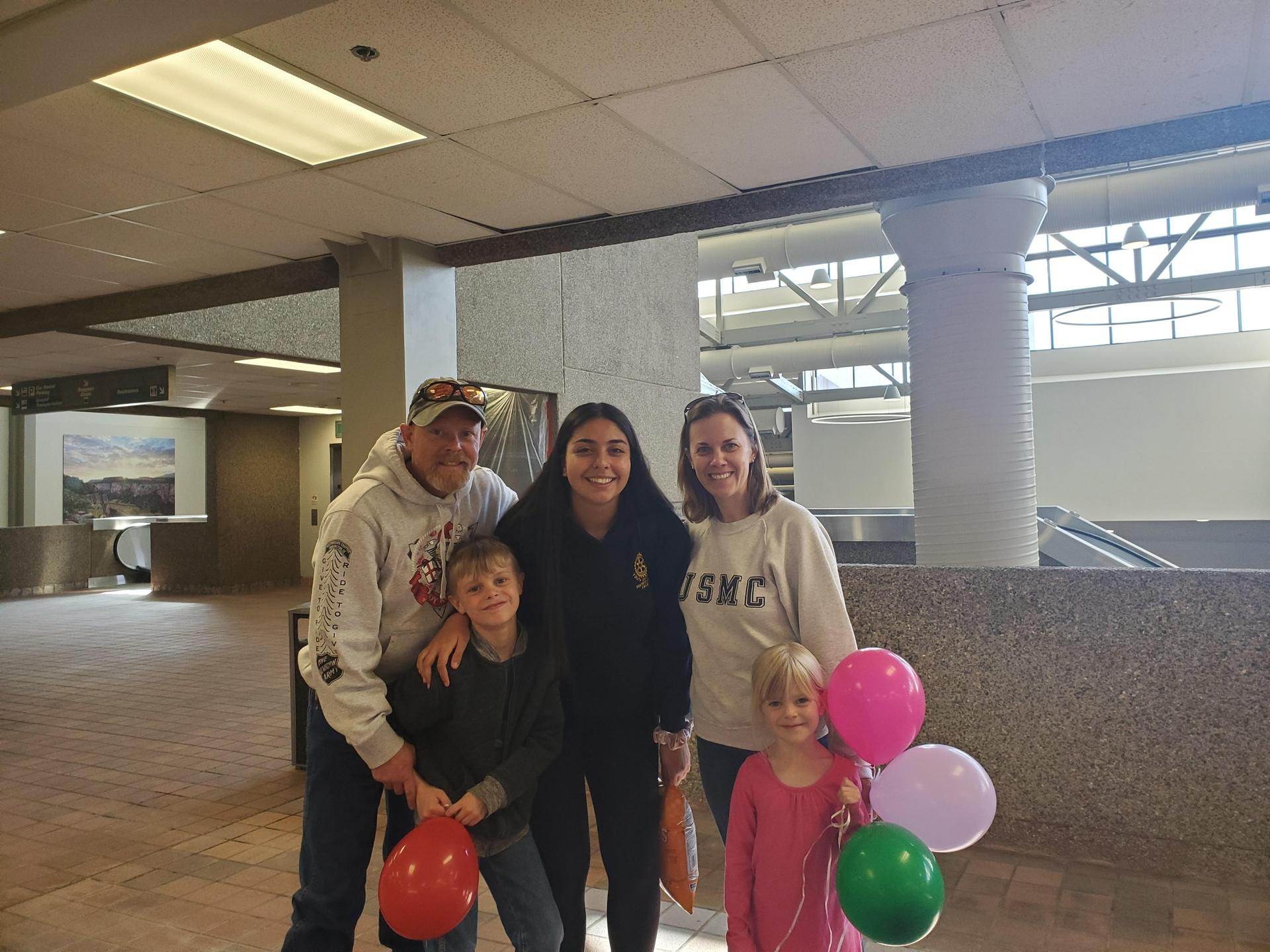 Saying goodbye to our exchange student from Chile