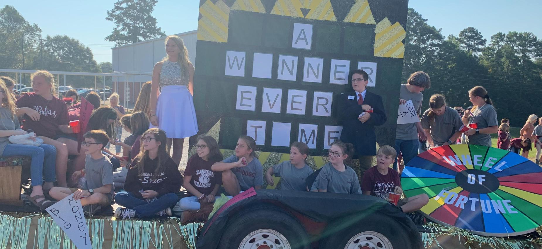 7th Grade Homecoming Float-3rd Place