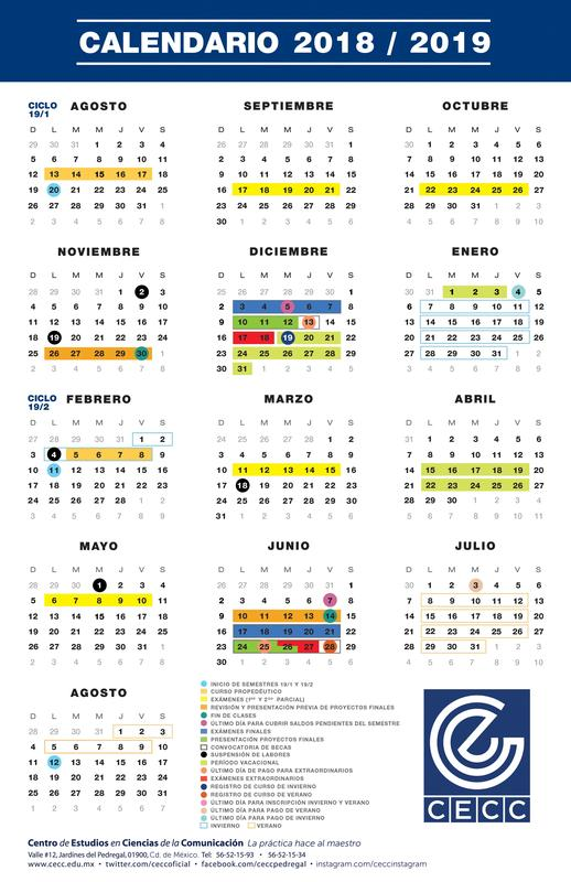 Calendario 2018-2019 Featured Photo