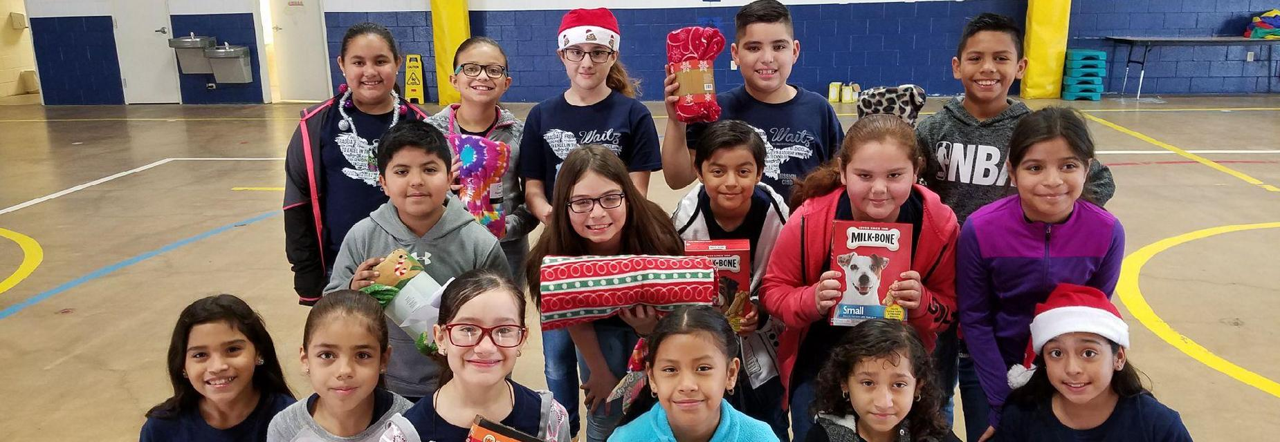 4th graders donate to PVAC