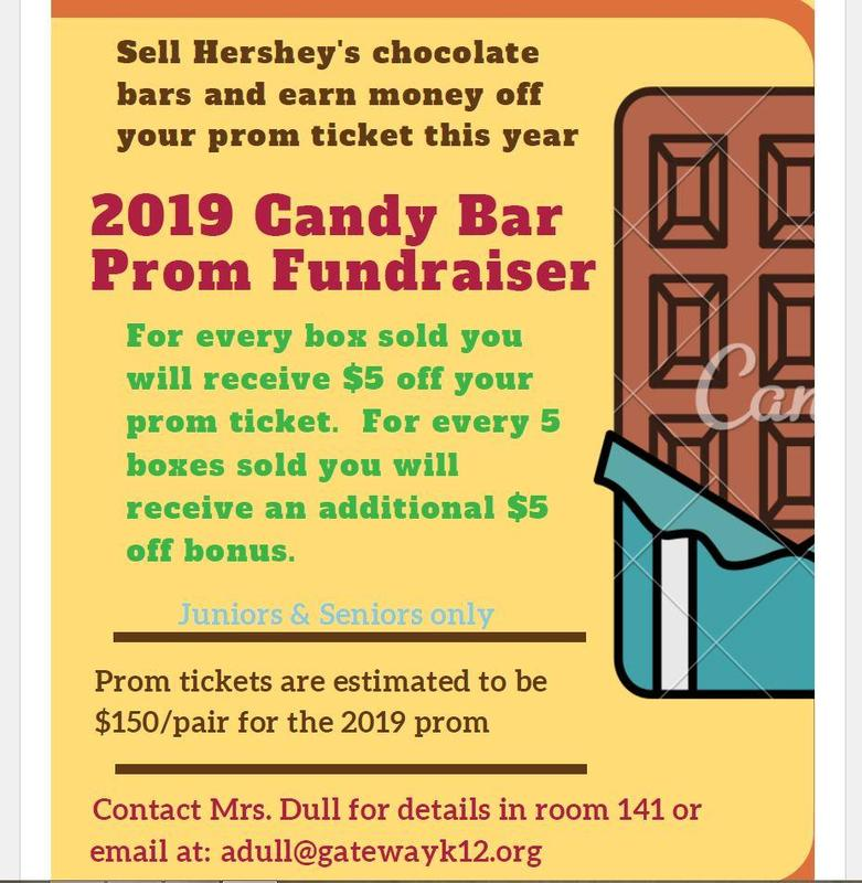 2019 Prom Candy Bar Fundraiser Thumbnail Image