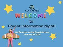 Parent Information Night Presentation