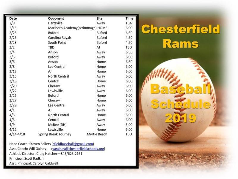 2019 Baseball Schedule Featured Photo