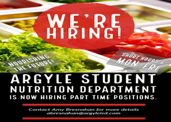AISD STUDENT NUTRITION DEPT. - HIRING PART TIME POSITIONS Thumbnail Image