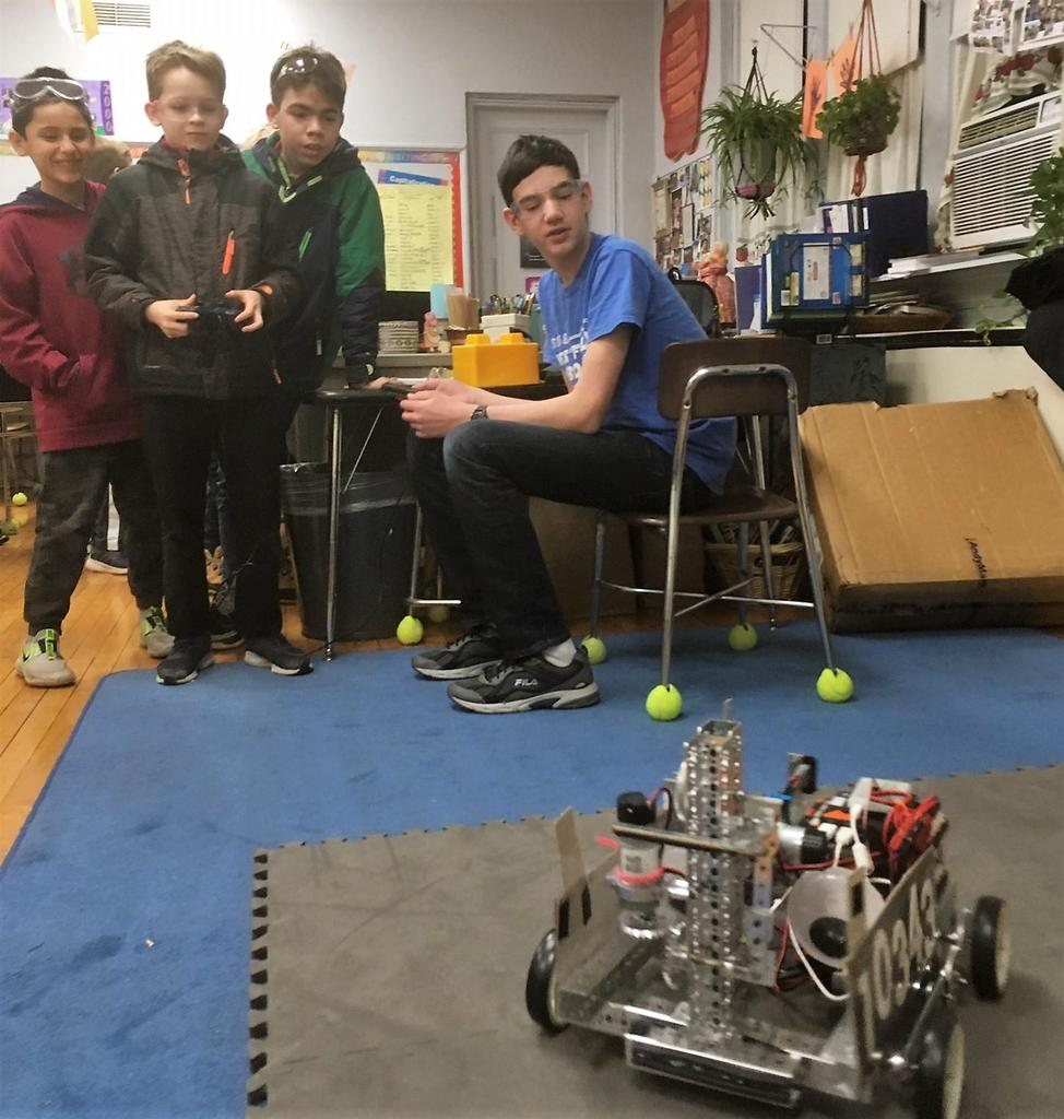 Members of the Westfield High School Robotics Team lent their expertise to STEM Night at McKinley on Jan. 30
