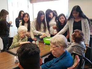 Sylvandale Students at Carlton Senior Living Facility