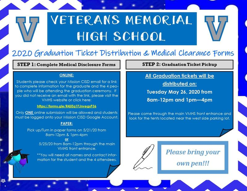 VMHS Graduation Tickets Information Featured Photo