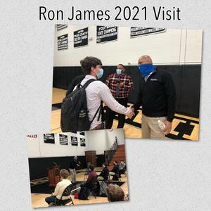 Inspirational speaker Ron James visits Xavier