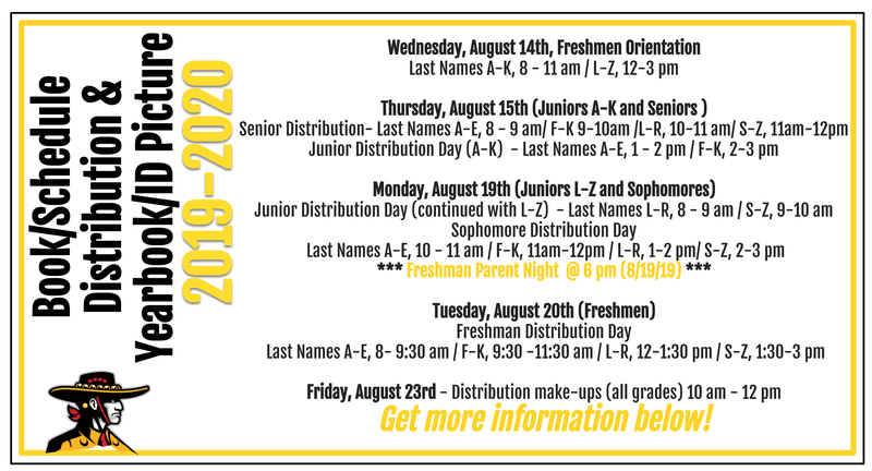 Fall Distribution, Picture day, and Orientation information for 2019-2020 school year Featured Photo