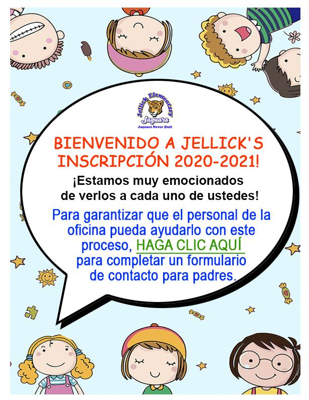 WELCOME TO JELLICK'S  2020-2021 ENROLLMENT!