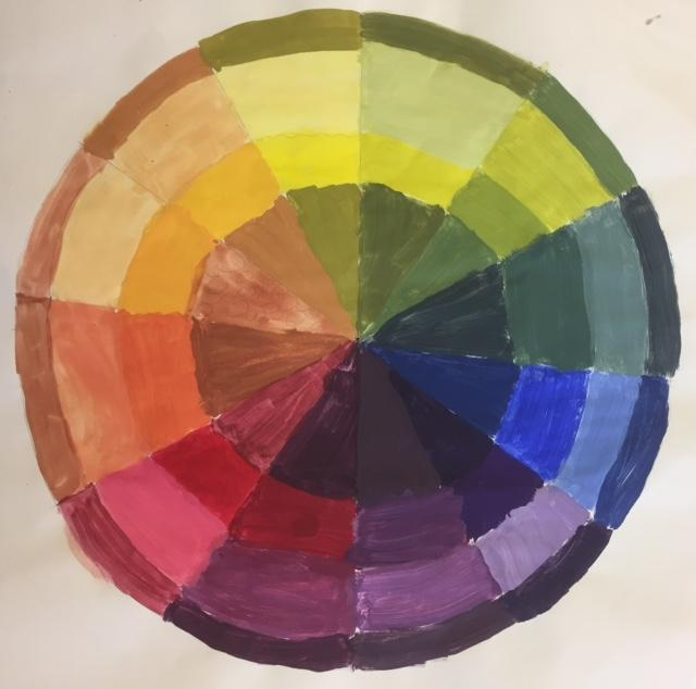 Kaylin A Radial Color Wheel