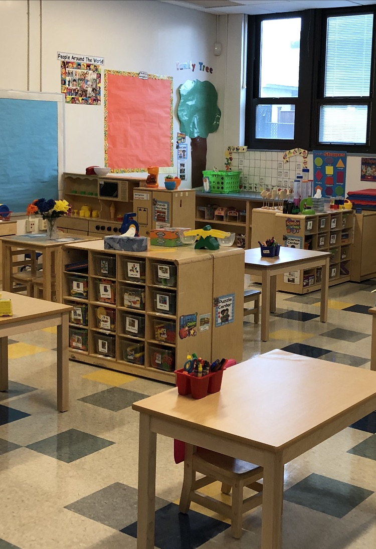 Toys section in classroom