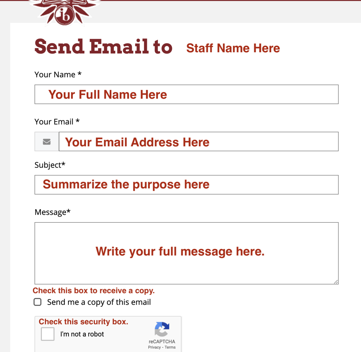 Sample Contact Email Sender