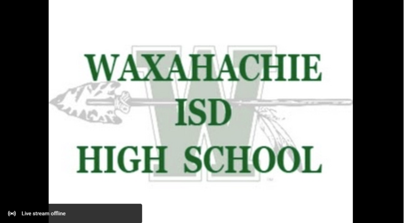 WISD high school graduation streaming placecard