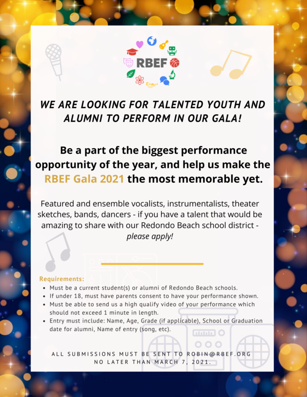 RBEF Gala - Call for Performers! Featured Photo