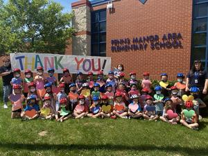 Kindergarten Students Received Free Safety helmets from UPMC