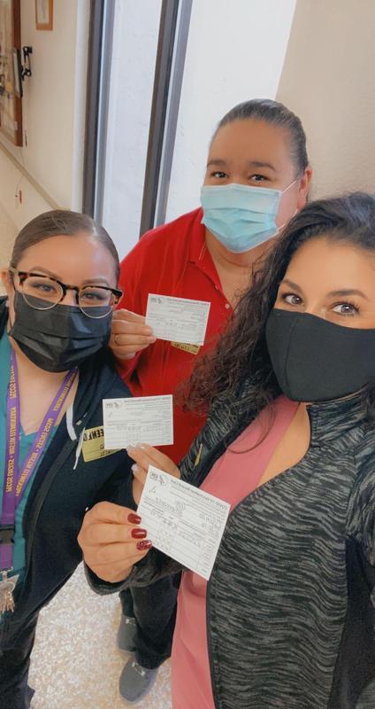 PBTISD Nurses receive COVID-19 Vaccine.