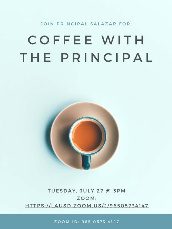 Coffee with the Principal 7.27.27 @ 5pm Featured Photo