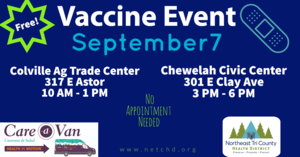Image advertising September 7th Vaccine Event