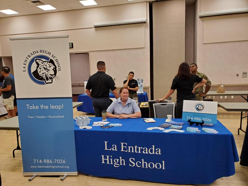 LEHS Staff at PYLUSD College and Career Fair