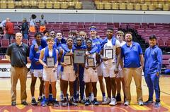 The Brewer Bear basketball team defeated Wichita Falls Rider 45-42 in overtime to take first place in the Fantasy of Lights Tournament on Nov. 24.