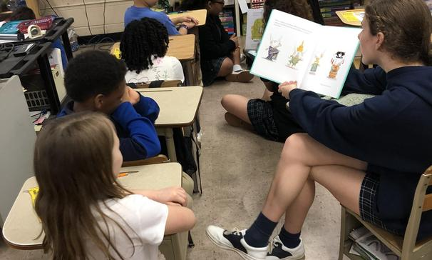 Schools of the Sacred Heart and Grand Coteau Elementary have teamed up to establish a community building partnership using reading to strengthen foundational academic skills. Students from grades 8th-10th grade from the Academy read to students, asked questions about what they were learning and why they enjoyed learning it