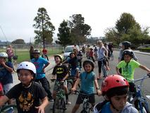 Oceano Elementary Bike Posse, monthly bike ride to Doc Burnstein's