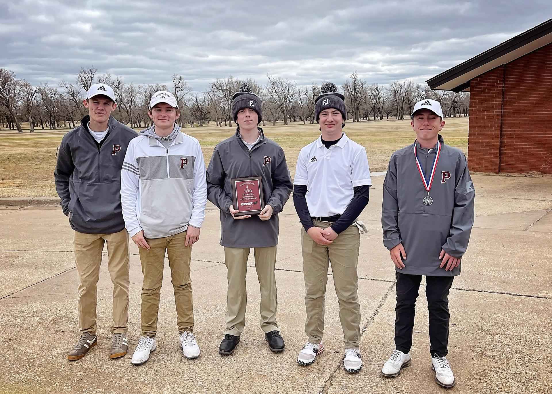 Golf Team placed 2nd at Meadowlake