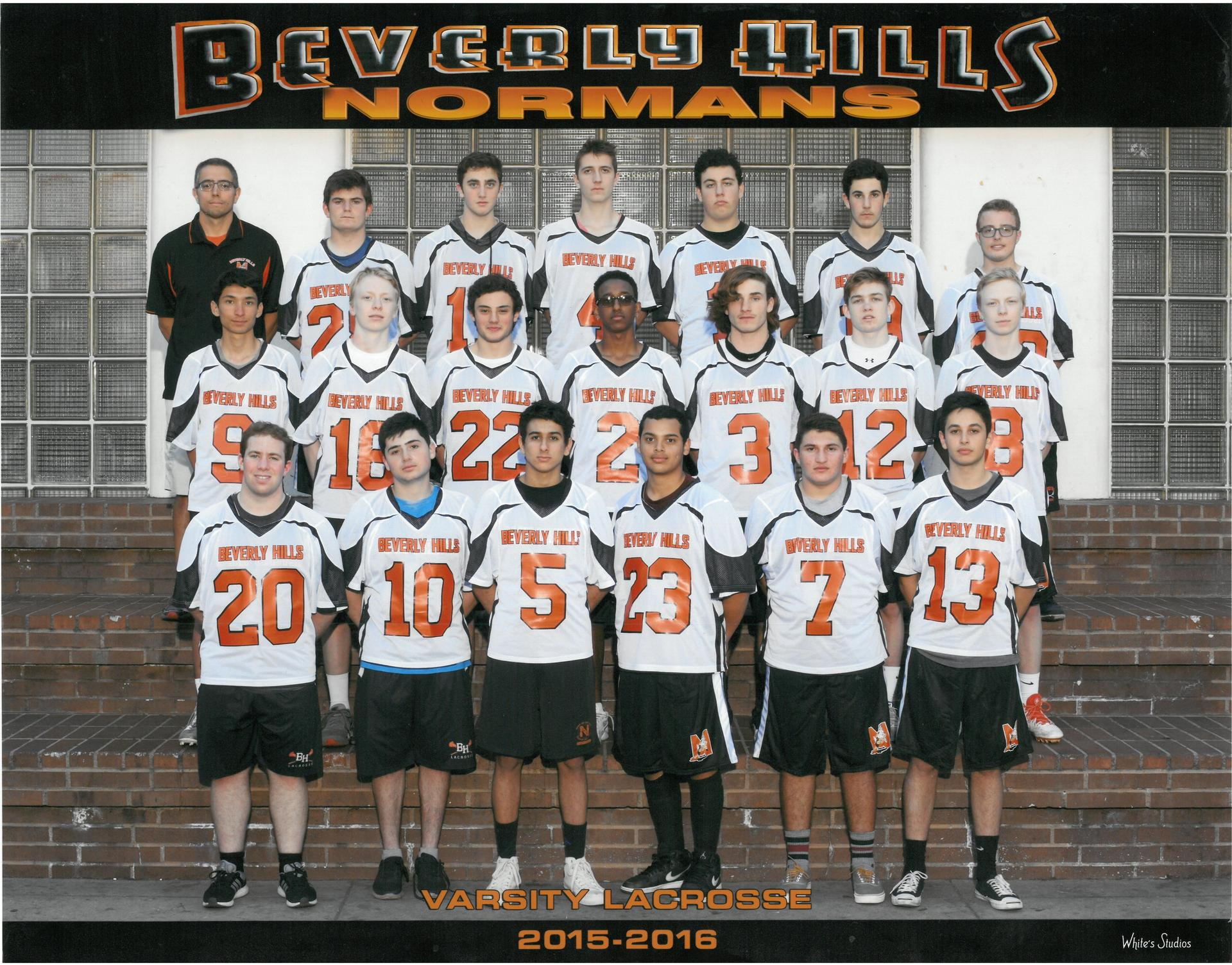 2016 Varsity Lacrosse