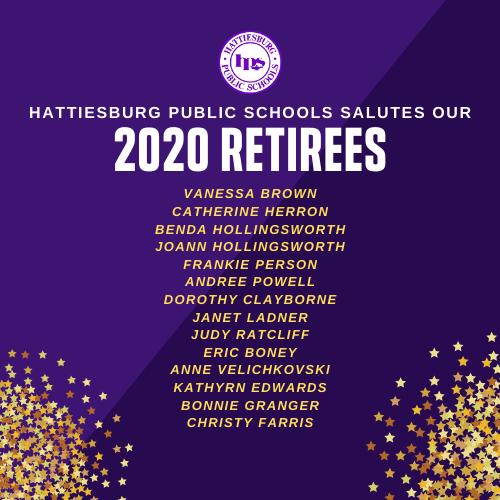 Hattiesburg Public Schools salute our 2020 Retirees! Featured Photo
