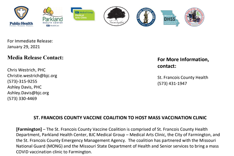 SFC To Offer Mass Vaccination Clinic