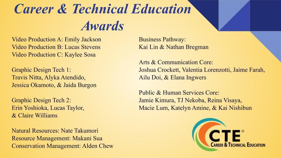 CTE Awards