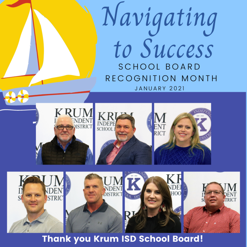 Krum ISD Celebrates School Board Recognition Month This January Featured Photo