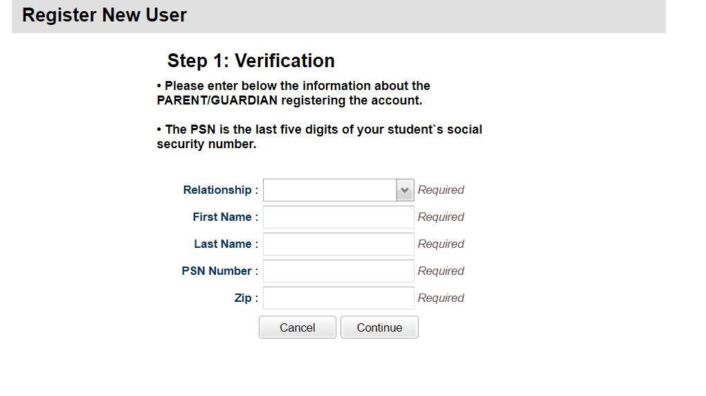 Final Step to register