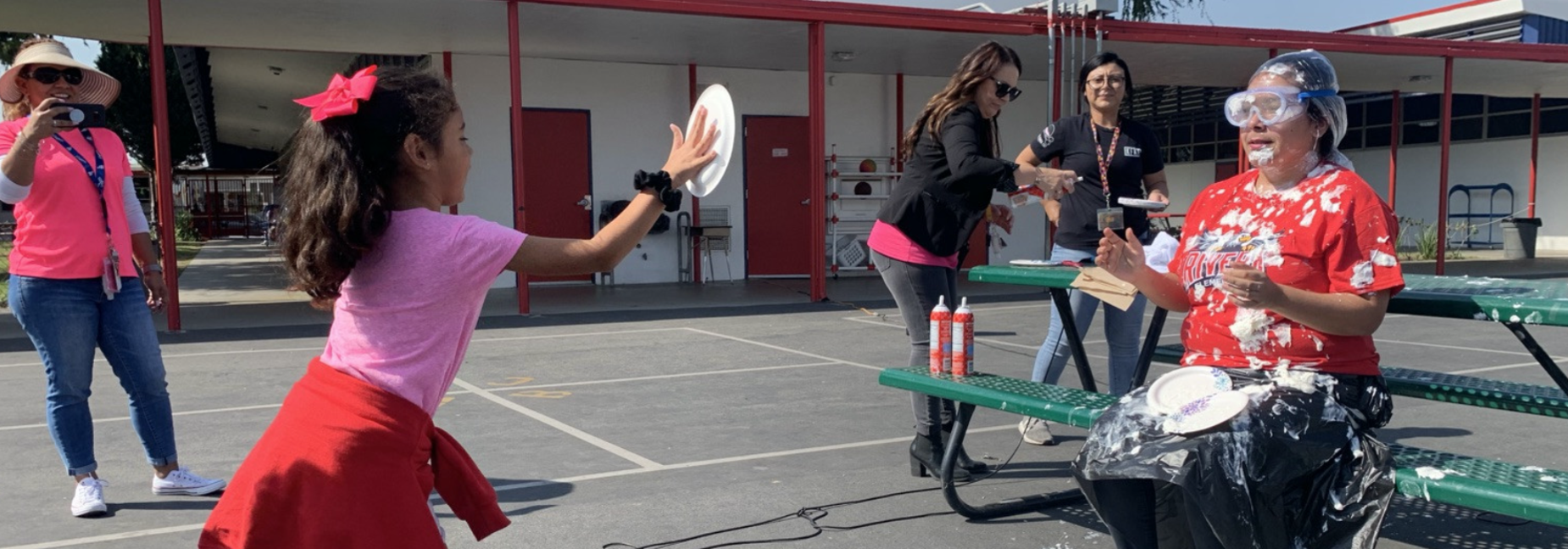Our EAGLES were able to pie Ms. Renteria to celebrate their achievements!