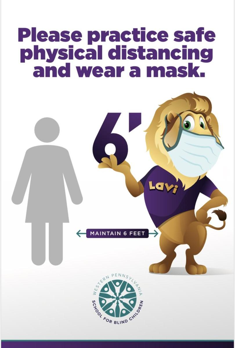 LAVI the Lion Social Distancing Poster