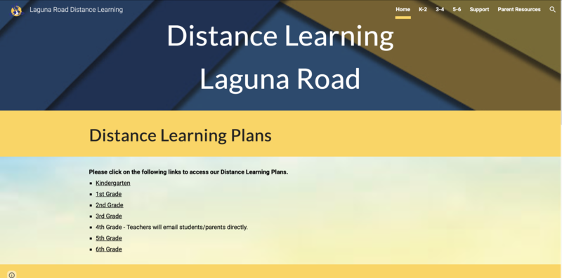 distance learning site screenshot