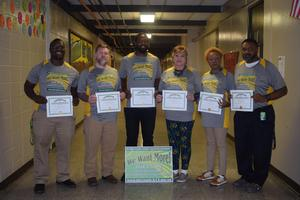 Denman Staff who had perfect attendance for the month of September 2018