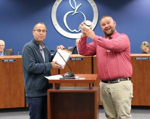 John Campbell, West Valley HS - January Governing Board Recognition and award